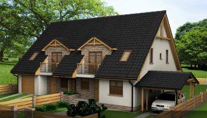 Mrowino Bliźniaki - wizualizacja domków